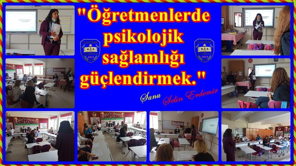Öğretmenlerde psikolojik sağlamlığı güçlendirmek.
